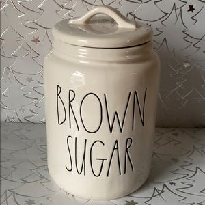 Rae Dunn Brown Sugar Large Ceramic Canister